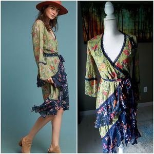Anthropologie Williston Wrap Dress by Love Sam